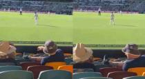 Siraj fields shouts of grub from unruly group of fans at Gabba