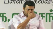 actor surya crying in stage