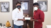 soori-gave-donate-relief-fund-to-udhayanidhi-stalin