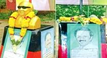 karunanithi statue removed at vellore