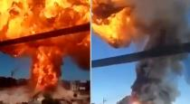 Russia gas station exploded viral video