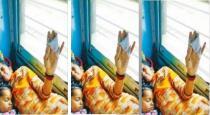 Women passenger finger cut in cholan express