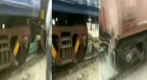 woman trapped under a train