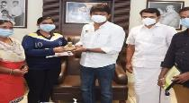 udhyanithi stalin give fund to women player