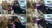 UP girl saved her firecracker seller father from police viral video