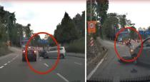Man escaped from accident in Malaysia viral video