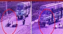 Chithambaram bike accident and rider escaped