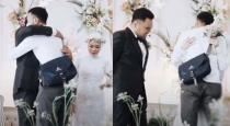 Bride hugs ex lover on stage viral video