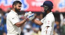 kholi and rahane reaches fifty